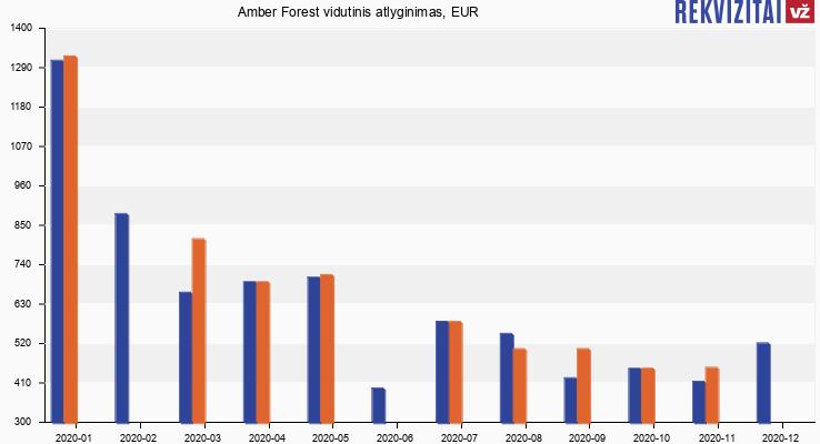 Amber Forest atlyginimas, alga