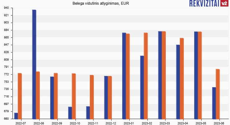 E. Beržinskienės IĮ atlyginimas, alga