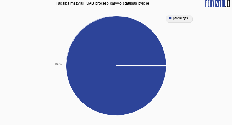 Bylų, kuriose dalyvavo Pagalba mažyliui, UAB, proceso dalyvio statusai