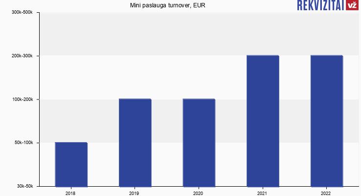 Mini paslauga turnover, EUR