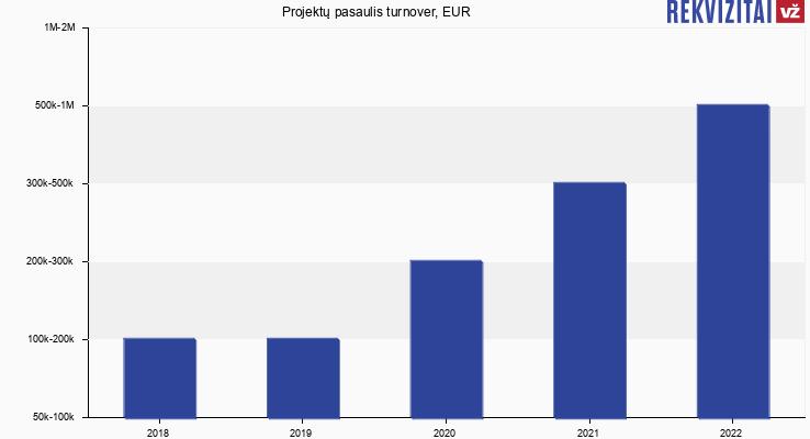 Projektų pasaulis turnover, EUR