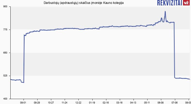 Darbuotojų (apdraustųjų) skaičius įmonėje Kauno kolegija