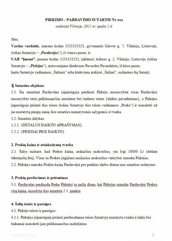 Svediska automobilio pirkimo pardavimo sutartis