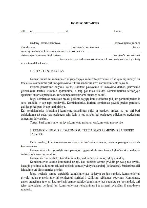 Komiso sutartis