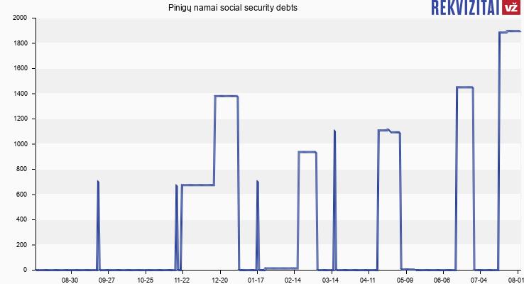 Pinigų namai social security debts