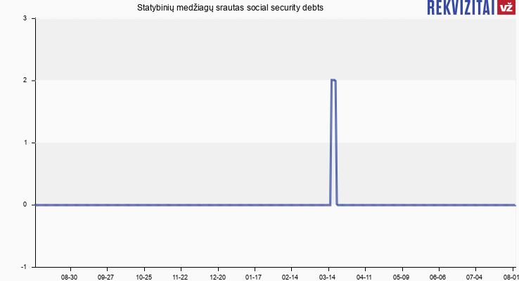 Statybinių medžiagų srautas social security debts