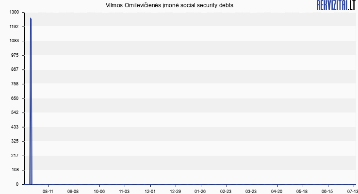 Vilmos Omilevičienės įmonė social security debts