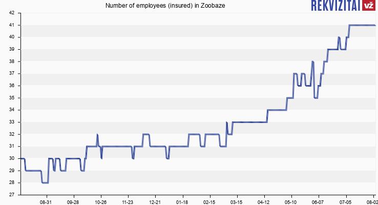 Number of employees (insured) in Zooguru