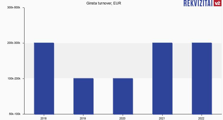 Ginsta turnover, EUR