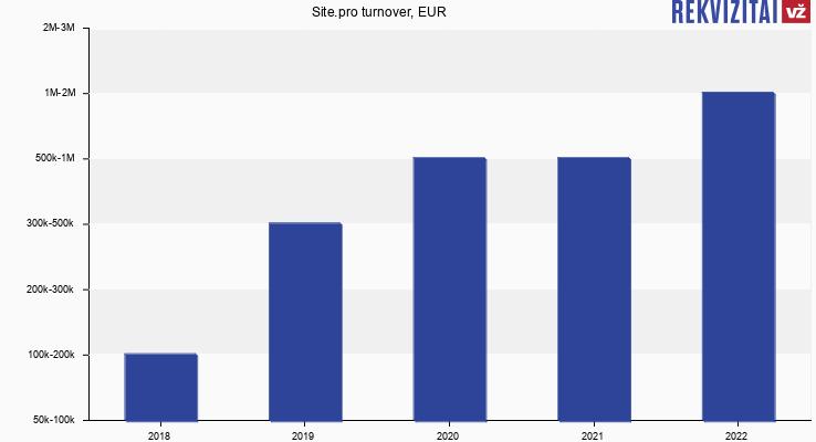 Site.pro turnover, EUR