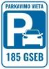 185-oji garažų statybos ir eksploatavimo bendrija logotipo