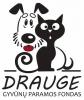 """Beglobių gyvūnų labdaros ir paramos fondas """"Drauge"""" logotipo"""