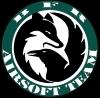 Black fox raven, asociacija Logo