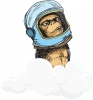 Devynios Beždžionės logotipas