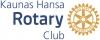 """Kauno Rotary klubas """"Hansa"""" logotipo"""