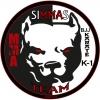 """Kovos menų ir sporto asociacija """"SIMMAS TEAM"""" logotipas"""