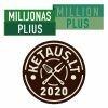 """UAB """"Milijonas plius"""" logotyp"""