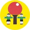"""""""Ping-Pong"""" - Vilniaus miesto mėgėjų ir profesionalų stalo teniso klubas logotipas"""