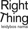 """UAB """"Right Thing"""" logotipas"""