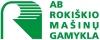 Rokiškio mašinų gamykla, AB logotype
