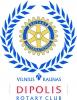 """Rotary klubas """"Dipolis"""" logotipas"""