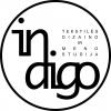 """Tekstilės dizaino ir meno studija """"Indigo"""" logotype"""