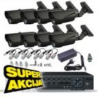 AHD ir IP Vaizdo stebėjimo kamerų komplektas (4-16 kamerų). Akcija