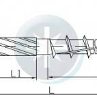 Medsraigtis konstrukcinis su įleidžiama galvute - HUS
