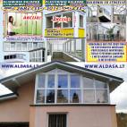 Balkonų stiklinimas plastiko, aliuminio sistemomis