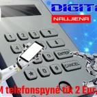 DD GSM telefonspynės komplektas su įrengimu ir 5m aptarnavimu už 2Eur/mėn.