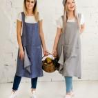 Lininiai virtuviniai rankšluosčiai, lininės virtuvinės prijuostės, staltiesės, servetėlės