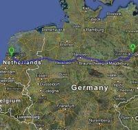 Atstumas tarp Europos miestų