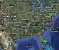 Atstumas tarp JAV miestų