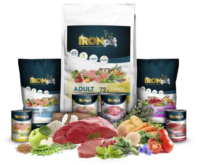 """""""IRONpet"""" vieno baltymo (monoproteininiai) pašarai: kokybė, sukurta kasdieniams iššūkiams!"""