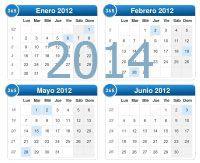 Kalendoriaus šablonas 2014 metams