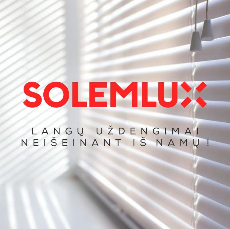 """Nauja """"Solemlux"""" elektroninė parduotuvė siūlo žaliuzes įsigyti internetu"""
