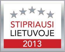 Stipriausi Lietuvoje 2013 - įmonės turinčios sertifikatą