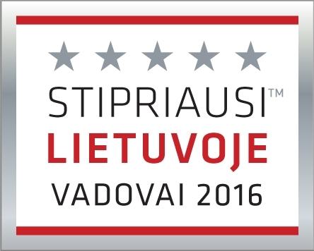 Stipriausi Lietuvoje vadovai 2016