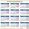 Kalendorius 2019-iems metams