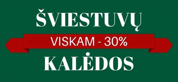 Visiems namų šviestuvam Kalėdinė nuolaida -30%!