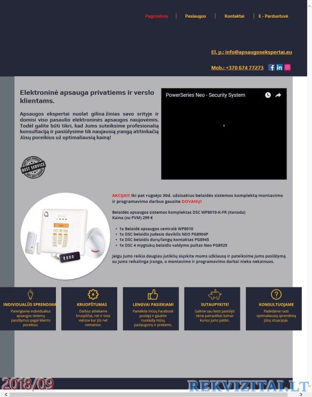 prekybos kontrolė ir ekspertų sistemos registravimas