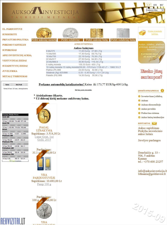 aukso sidabro prekybos rodikliai)
