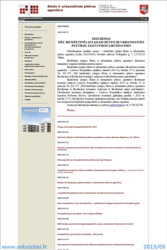 Cement Uab Lt Contact Mail: Būsto Ir Urbanistinės Plėtros Agentūra. Contacts, Map