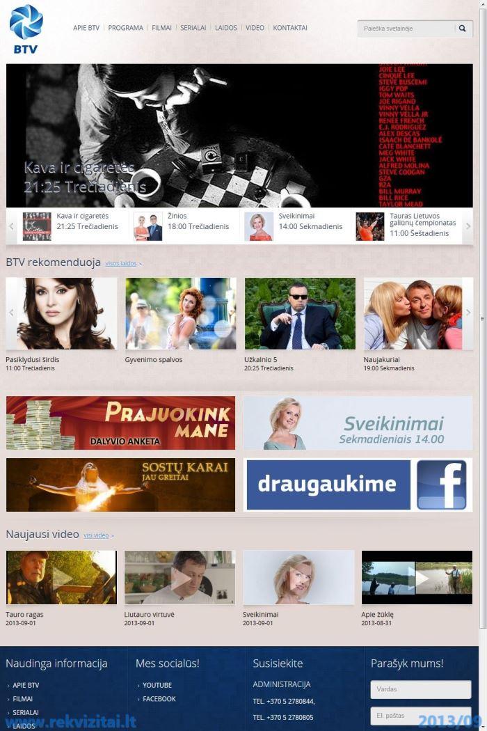 Baltijos TV, UAB  Contacts, map  Rekvizitai lt