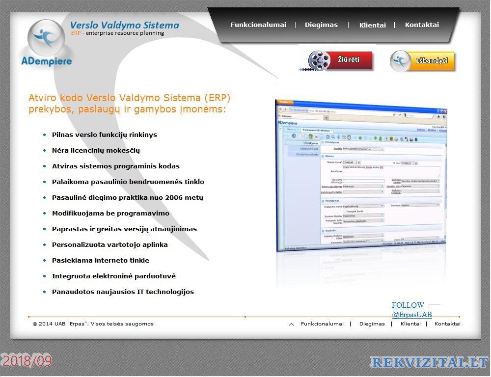 ERP – verslo nervų sistema