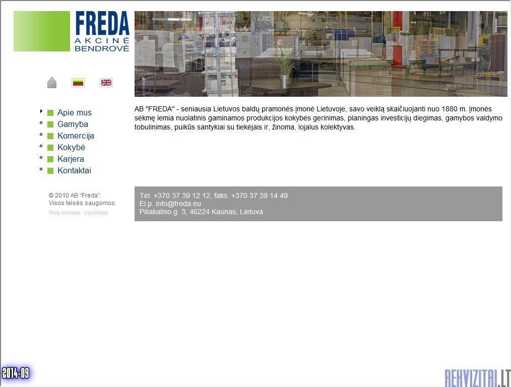 Freda AB Contacts Map Rekvizitailt