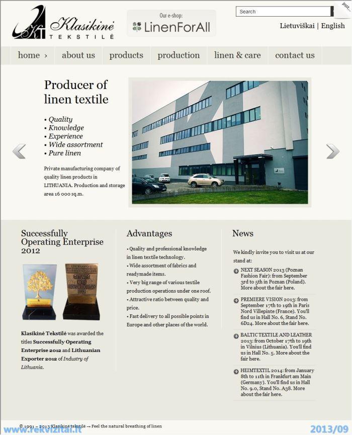 Klasikinė tekstilė, A  R  Baumilų TŪB  Contacts, map  Rekvizitai lt