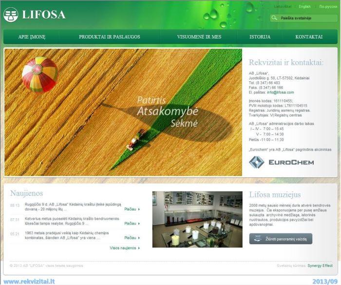 Lifosa, AB  Contacts, map  Rekvizitai lt