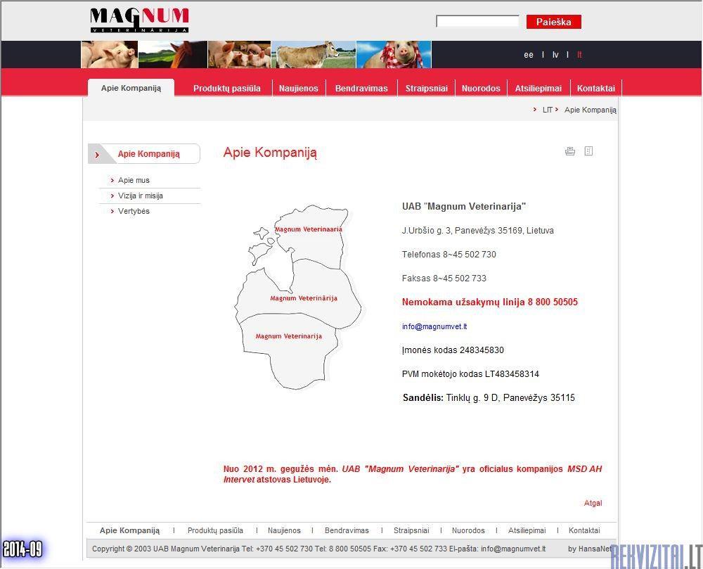 Magnum veterinarija produktai
