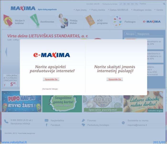 Maxima LT, UAB  Contacts, map  Rekvizitai lt